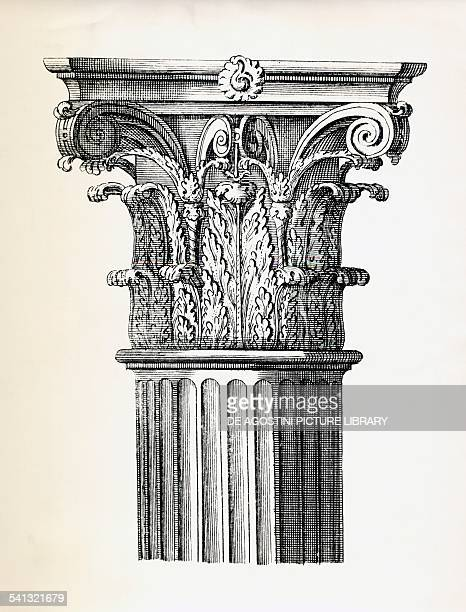Capital decorated with acanthus leaves detail from a Corinthianstyle column
