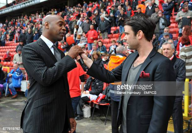 Capital FM DJ Dave Berry with former Charlton Athletic player Richard Rufus
