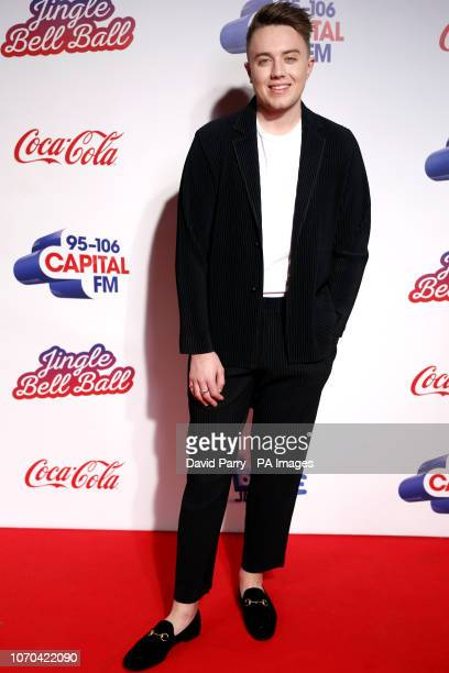 Capital FM Presenter Roman Kemp on the media run during day two of Capital's Jingle Bell Ball with CocaCola at London's O2 Arena