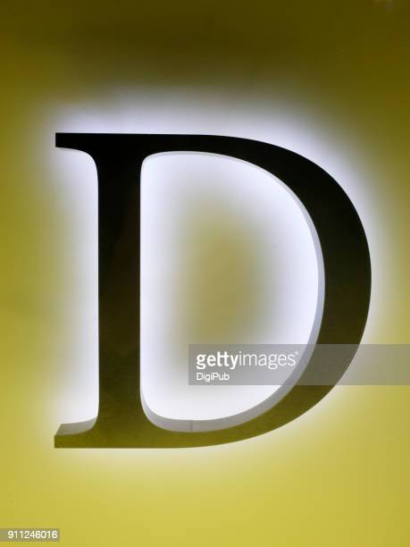 capital letter d backlight - letter d stock pictures, royalty-free photos & images