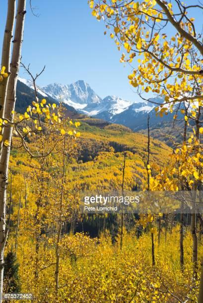 Capital mountain peak autumn colorado