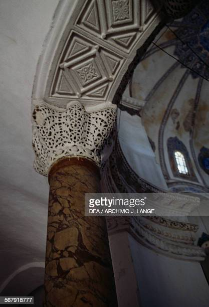 Capital of a column in the former Church of the Saints Sergius and Bacchus converted into the Kucuk Ayasofya Camii mosque in the 16th century...