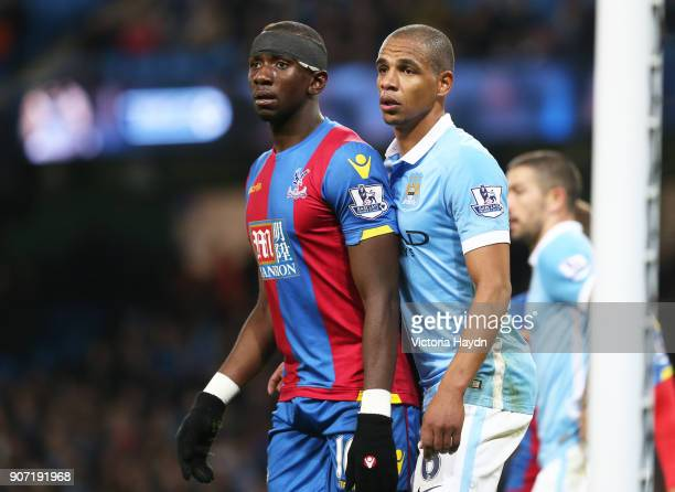 Capital One Cup Fourth Round Manchester City v Crystal Palace Etihad Stadium Manchester City's Fernando in action with Crystal Palace's Yannick...