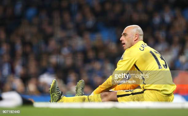 Capital One Cup Fourth Round Manchester City v Crystal Palace Etihad Stadium Manchester City's Willy Caballero in the match