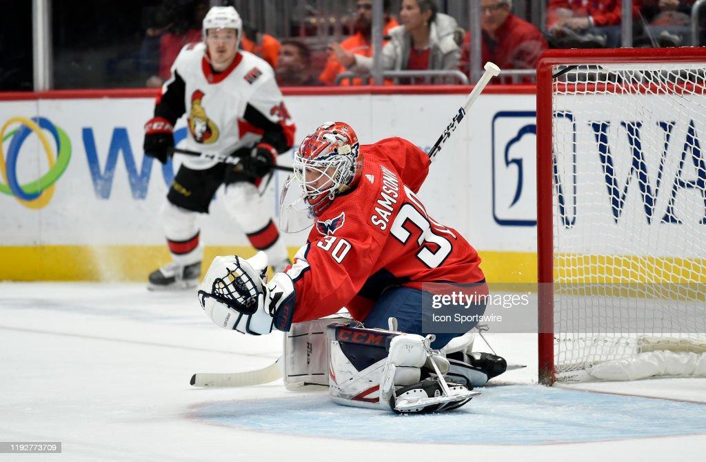 NHL: JAN 07 Senators at Capitals : News Photo