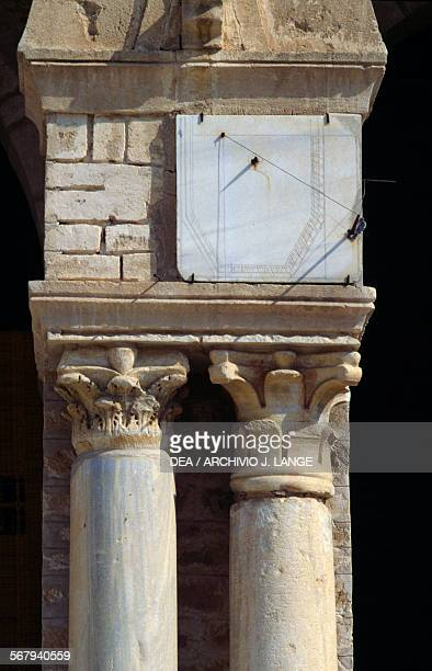 Capitals surmounted by a vertical sundial Mosque of 'Uqba or Great Mosque of Kairouan Kairouan Governorate Tunisia
