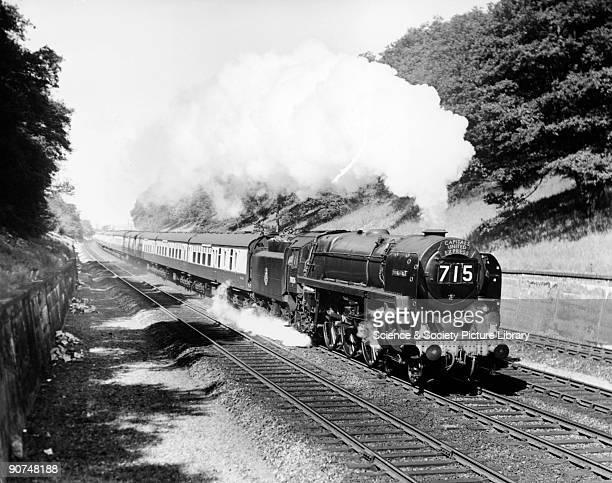 Capitals United Express' at Sonning Cutting, near Reading, c 1957. British Railways' steam locomotive No 70026.