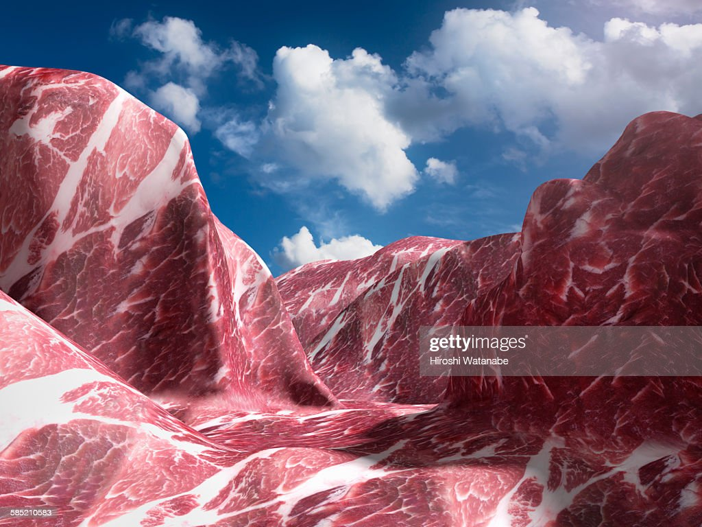 EL Capitan that made of meat. (Pork) : Stock Photo