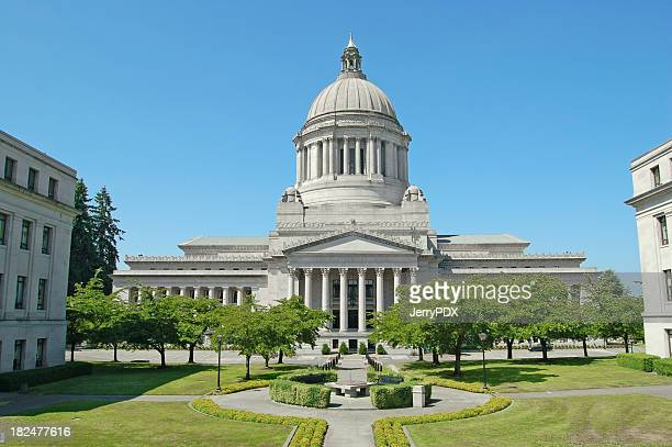 capitol and mall in olympia - governor stock pictures, royalty-free photos & images
