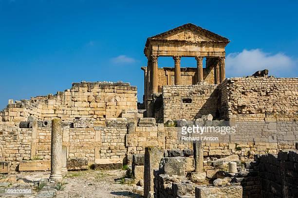 Capitol at Dougga Roman monument
