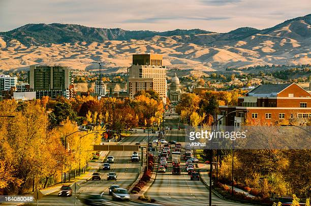 capitol blvd, boise, idaho - idaho stock pictures, royalty-free photos & images