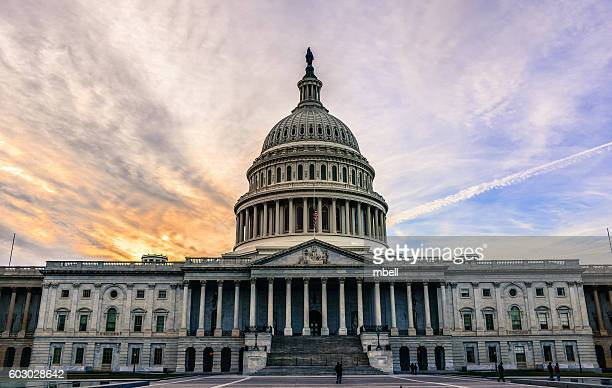 us capitol building and dome (east front) - washington dc - capitol hill stock pictures, royalty-free photos & images