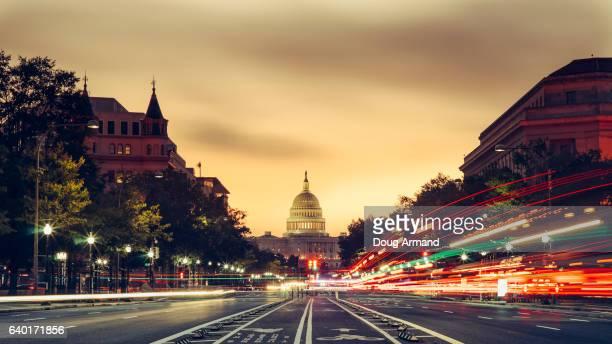 Capitol Building at sunrise in Washington D.C, USA