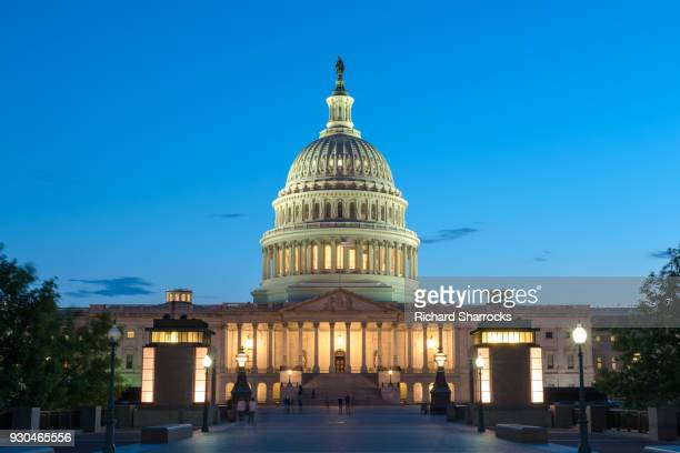 us capitol building, capitol hill, washington dc, usa - senate stock pictures, royalty-free photos & images