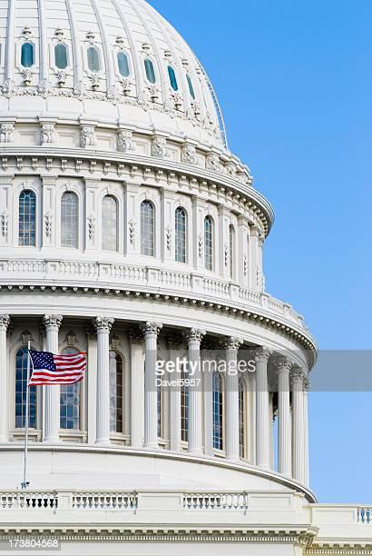 US Capitol Building Closeup half
