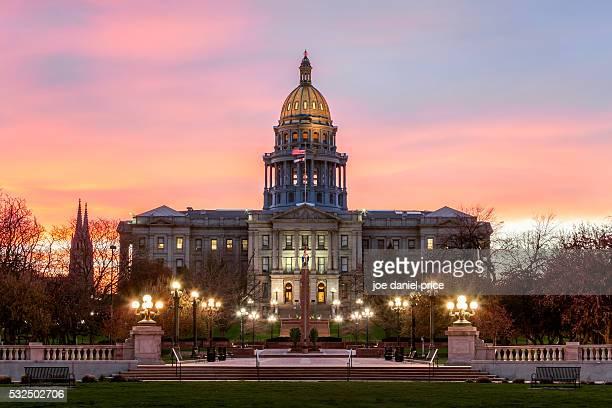 capitol building, denver, colorado, america - denver stock pictures, royalty-free photos & images