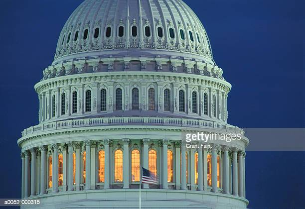 capitol building in evening - capitol building washington dc stock pictures, royalty-free photos & images