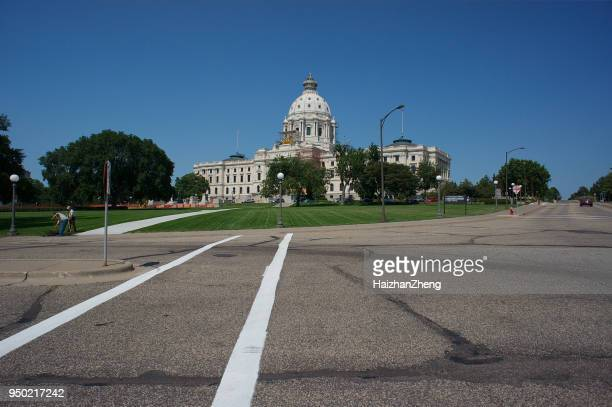 capitol building in st. paul mn - capital cities stock photos and pictures