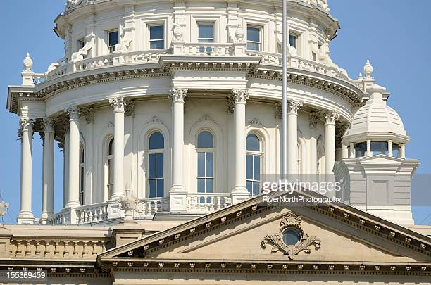 capitol building, lansing michigan - lansing stock pictures, royalty-free photos & images