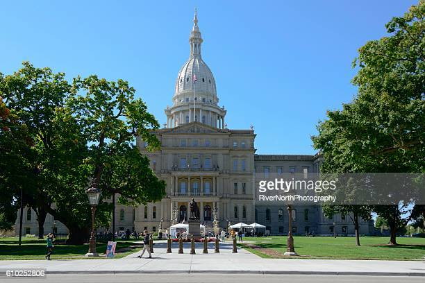 capitol building, lansing, michigan - capitais internacionais - fotografias e filmes do acervo