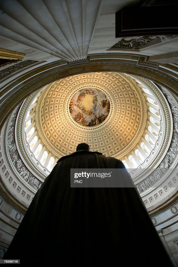 Capitol building rotunda, Washington DC : Foto de stock