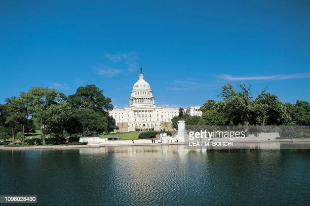 Capitol Building, seat of United States Congress Washington DC, District of Columbia, United States, 19th century.