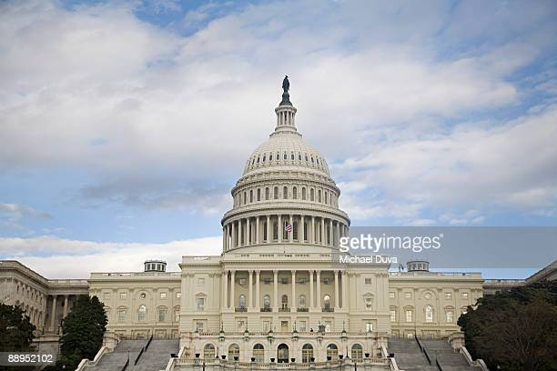 us capitol building, senate and house  - capitol hill stock pictures, royalty-free photos & images
