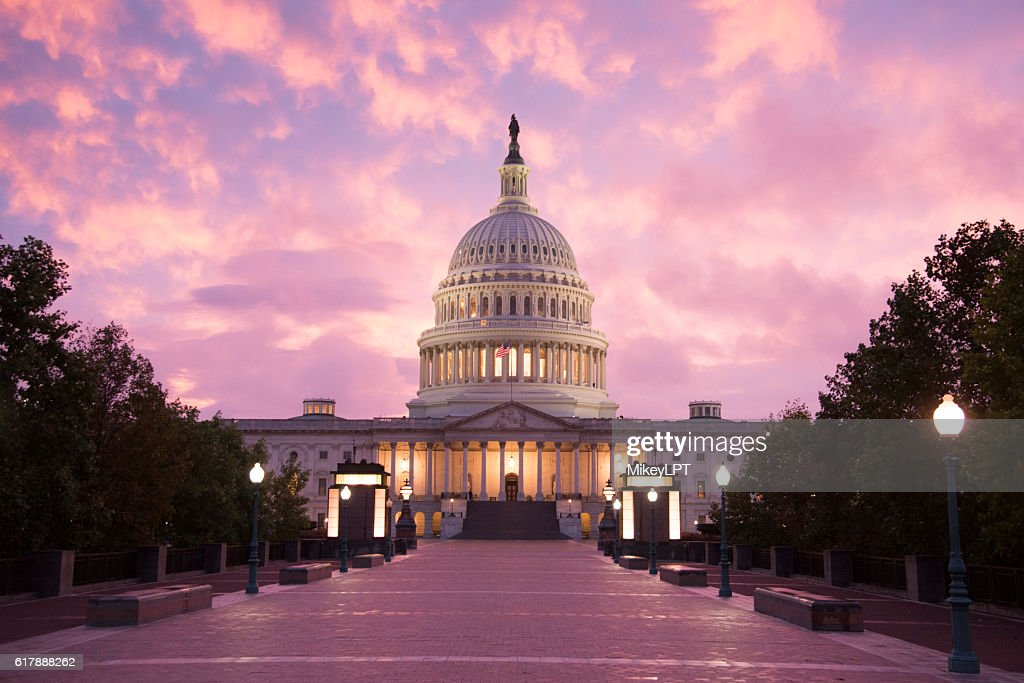 Capitol Building Sunset - Washington DC : Stock-Foto