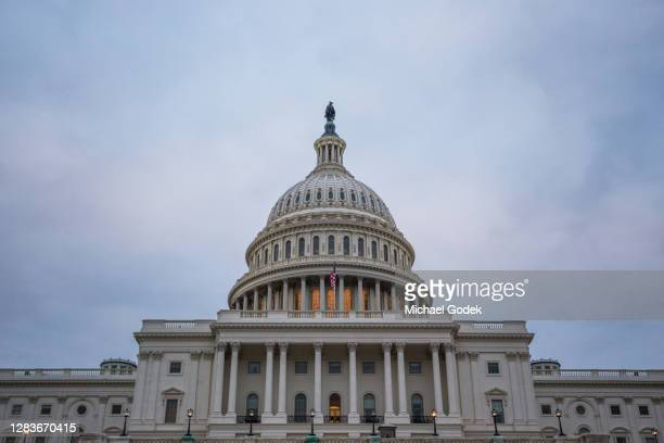 capitol building up close overcast at dusk - republican party stock pictures, royalty-free photos & images