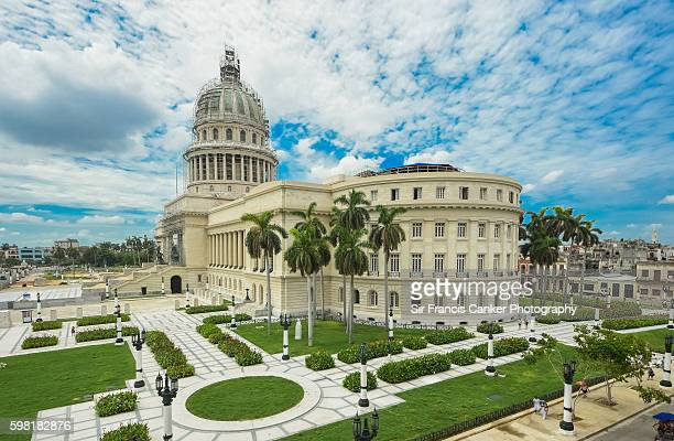 Capitol building with dramatic sky in Havana, Cuba