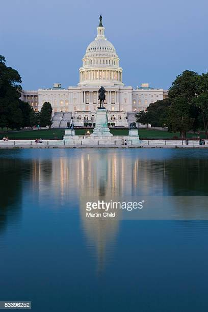 US Capitol Building with reflection