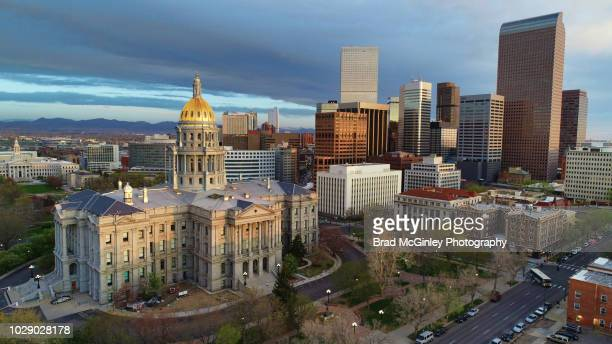 capitol colorado - front range mountain range stock pictures, royalty-free photos & images