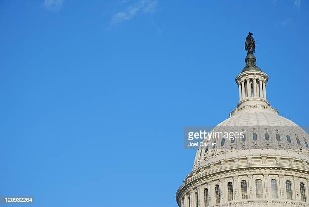 Capitol Dome and blue sky in Washington DC