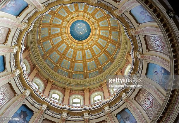 capitol dome, lansing michigan - capital cities stock pictures, royalty-free photos & images