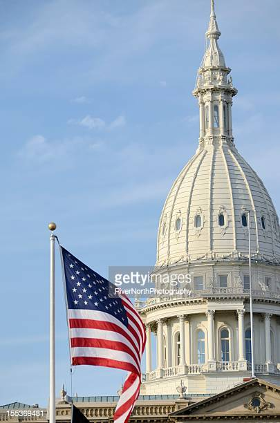 capitol dome, lansing - lansing stock pictures, royalty-free photos & images