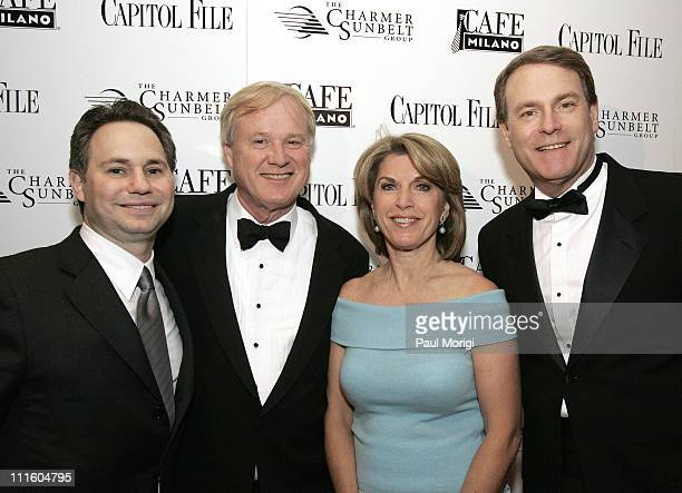 Capitol File Magazine CEO and Chairman Jason Binn Chris Matthews Kathleen Matthews and Brian Fischer at Capitol File Magazine's White House...