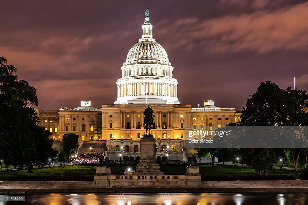 Capitol Hill at Sunset : Stock Photo