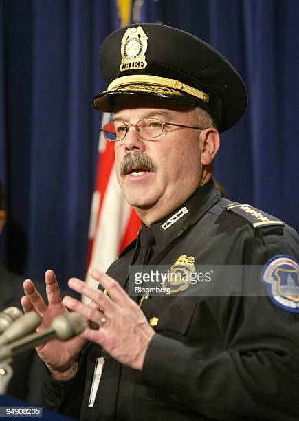 Capitol Hill Chief of Police Terry Gainer speaks during a news conference in the Senate Radio and Television Studio about the discovery of Ricin in...