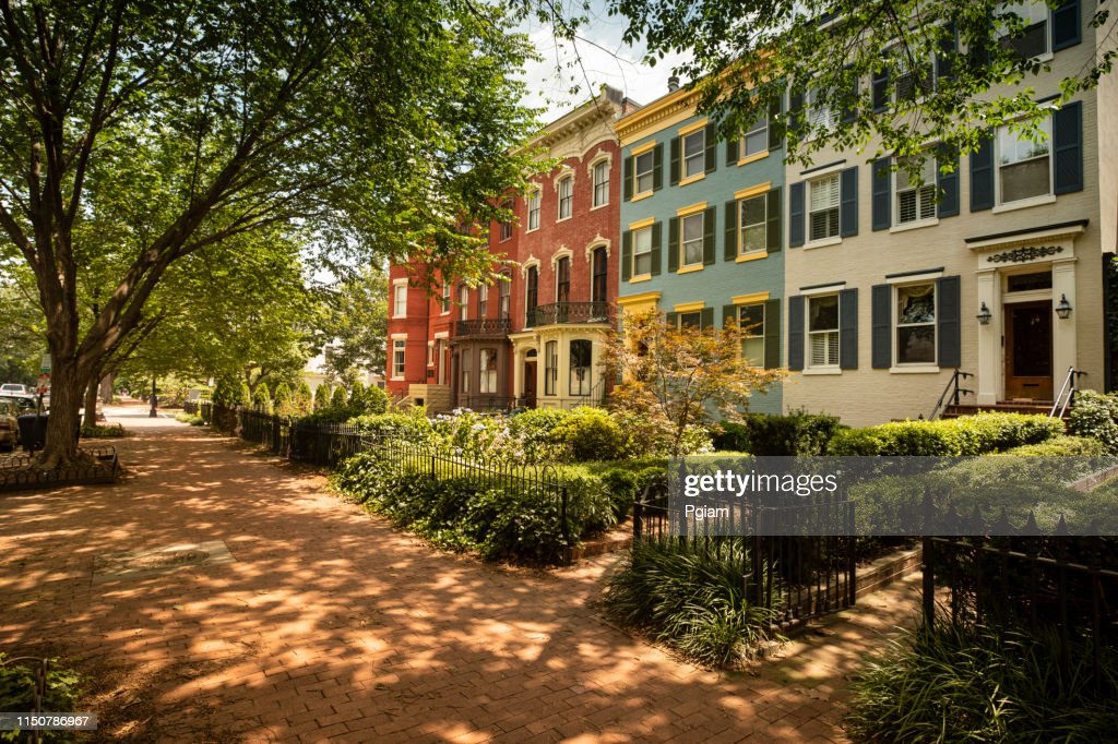 Capitol Hill historic community in Washington DC USA : Stock Photo