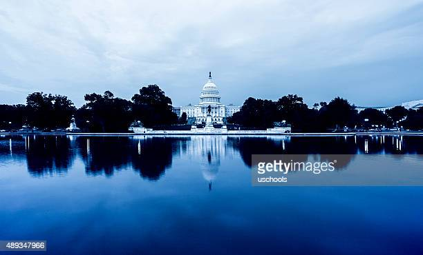 US Capitol Hill in Reflexion