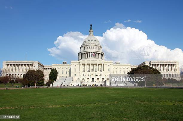 u.s. capitol in spring - house of representatives stock pictures, royalty-free photos & images