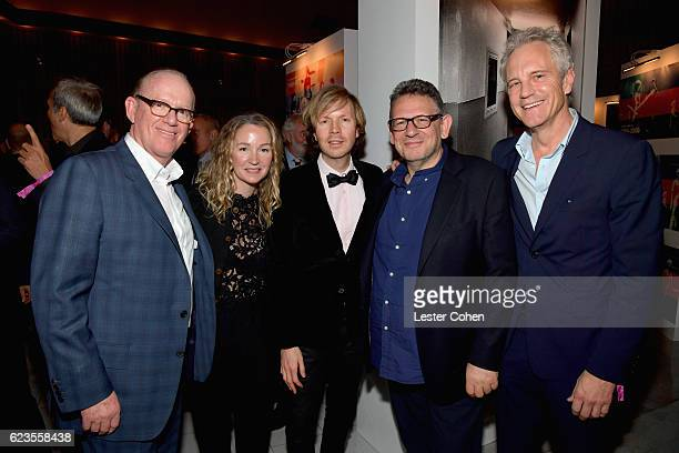 Capitol Music Group Chairman and CEO Steve Barnett actress Marissa Ribisi recording artist Beck Chairman and Chief Executive Officer of Universal...