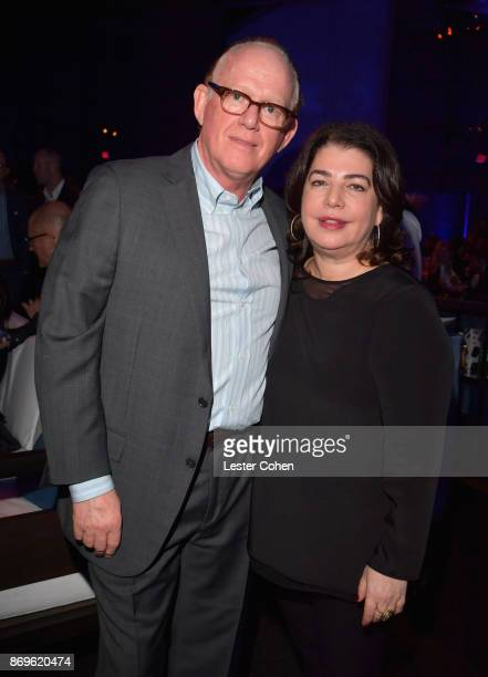 Capitol Music Group Chairman and CEO Steve Barnett and City of Hope Executive Board Member Michele Anthony at MFEI Spirit Of Life Honoring Coran...
