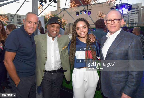 Capitol Music Group President Ashley Newton Motown Records Founder Berry Gordy recording artist Jadagrace and Chairman and CEO of Capitol Music Group...