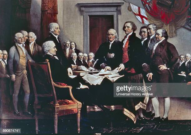 US Capitol paintings Declaration of Independence painting by John Trumbull