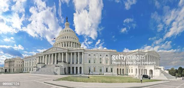 us capitol panorama - capitol hill stock pictures, royalty-free photos & images