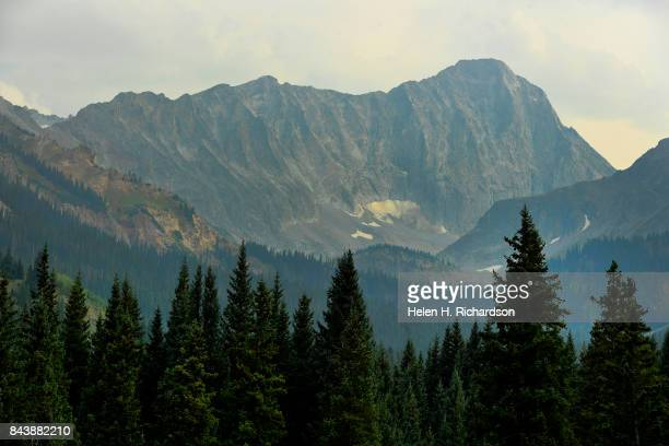 WILDERNESS CO SEPTEMBER 6 Capitol Peak can be seen in the distance from the Upper Capitol Creek Trail on September 6 2017 near in the Maroon...