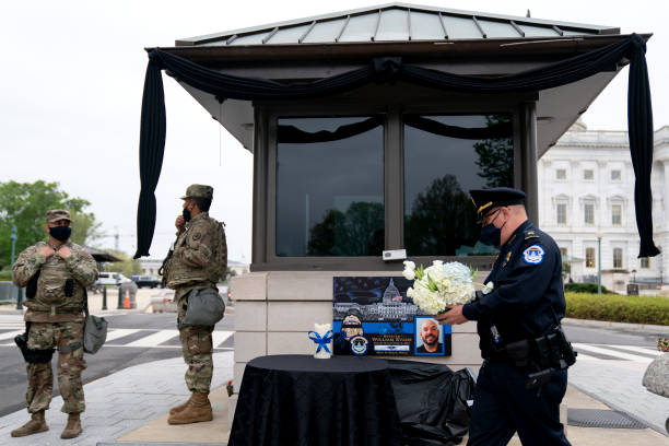 DC: U.S. Capitol Police Officer William Evans Lies In Honor In Capitol Rotunda