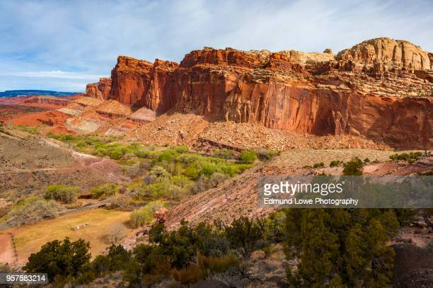 capitol reef national park. - capitol reef national park stock pictures, royalty-free photos & images
