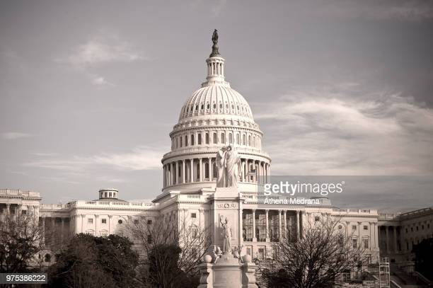usa capitol, washington dc, usa - neoklassiek stockfoto's en -beelden